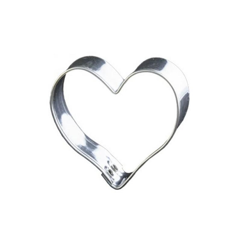 découpoir coeur 5 cm - emporte-pièce coeur en fer blanc