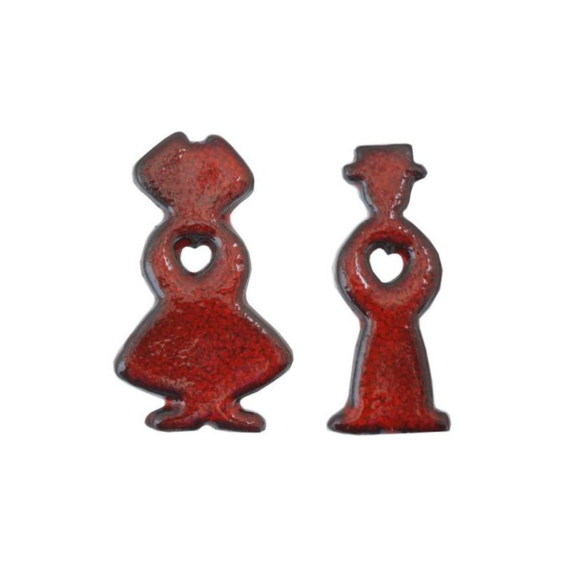Magnet Couple d'Alsaciens en céramique