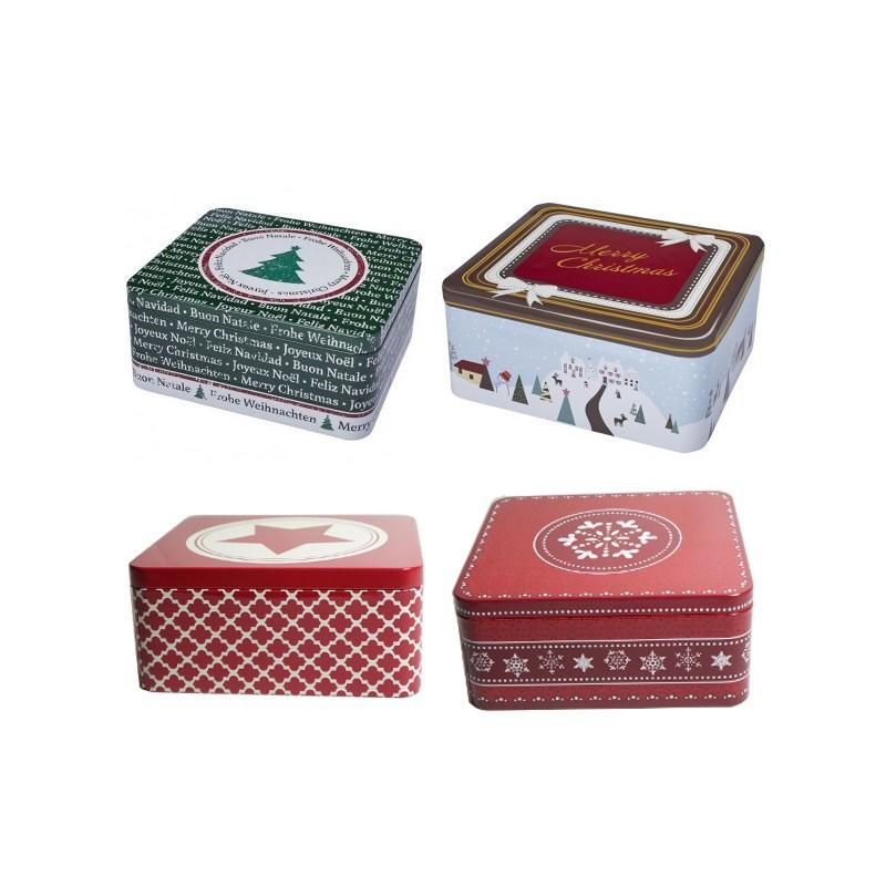 boite biscuits de no l en fer blanc grande boite rectangulaire no l. Black Bedroom Furniture Sets. Home Design Ideas