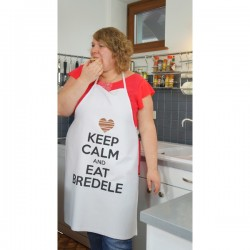 Tablier Keep Calm and Eat Bredele