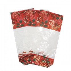 5 Sachets décor Houx de Noël
