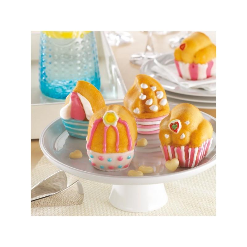 moule cupcakes moule p tisserie en silicone. Black Bedroom Furniture Sets. Home Design Ideas