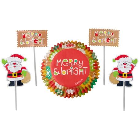 Caissettes et Pics Père Noël et Lutins