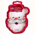 Emporte-pièce Père Noël et sa Moustache