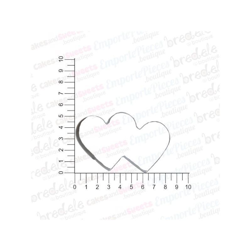 d coupoir double coeur 8 cm emporte pi ce coeur enlac s. Black Bedroom Furniture Sets. Home Design Ideas