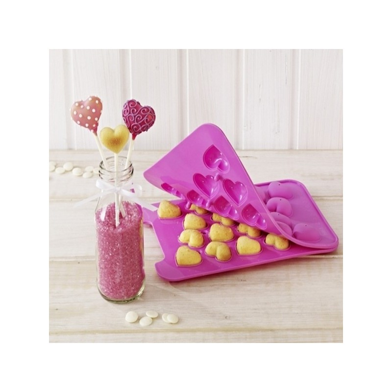 moule cake pops forme coeur moule en silicone pour pop cakes. Black Bedroom Furniture Sets. Home Design Ideas