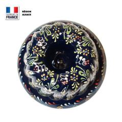 Moule à Kouglof Bleu 20 cm Décor Marguerites