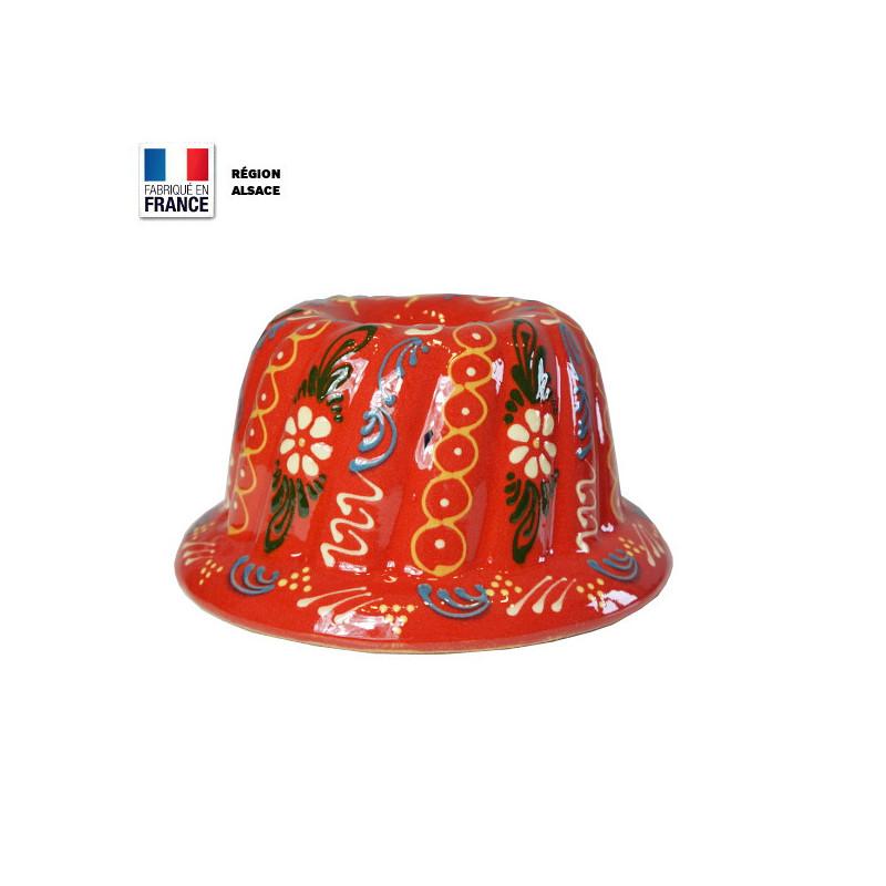 Moule à Kouglof Rouge 20 cm Décor Marguerites
