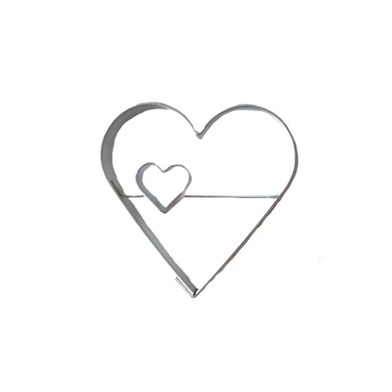 d coupoir coeur original 6 cm emporte pi ce coeur en fer blanc. Black Bedroom Furniture Sets. Home Design Ideas