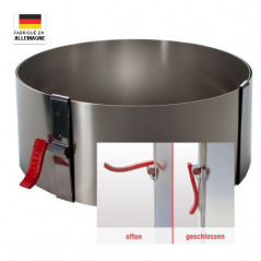 Cercle à pâtisserie réglable avec système de verrouillage hauteur 10 cm