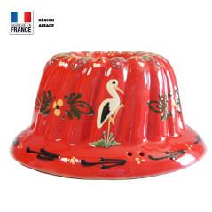 Moule à Kouglof Rouge 24 cm Décor Cigogne