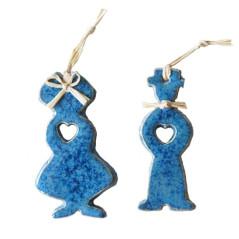 Couple d'alsaciens en céramique