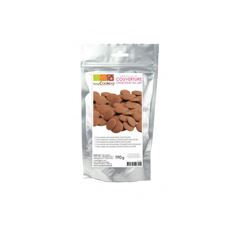 Palets de chocolat au lait 190gr