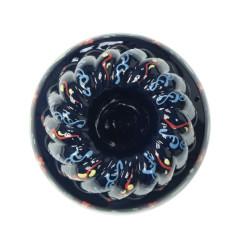Moule à Kouglof en Terre cuite couleur bleue