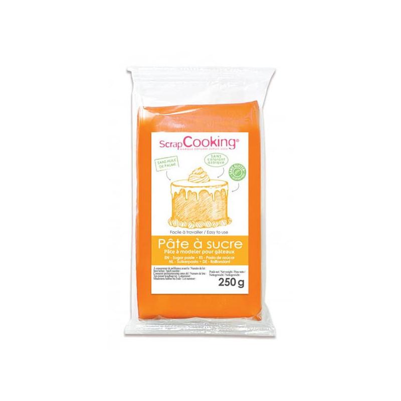 Pâte à sucre orange 250 g