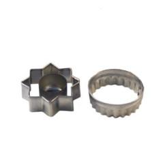 Emporte-pièces Sablés fourrés 3 pièces (étoile et rond)