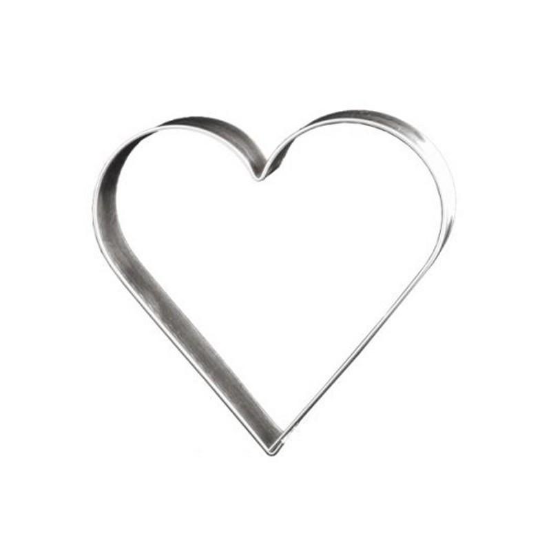 d coupoir coeur 12 cm emporte pi ce coeur en fer blanc. Black Bedroom Furniture Sets. Home Design Ideas
