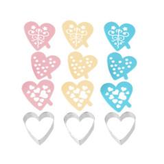Emporte-pièce Coeur avec Pochoirs décoratifs
