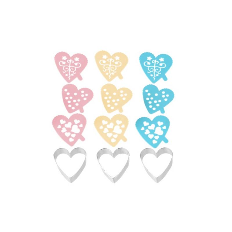 Emporte-pièce Coeur avec Pochoirs
