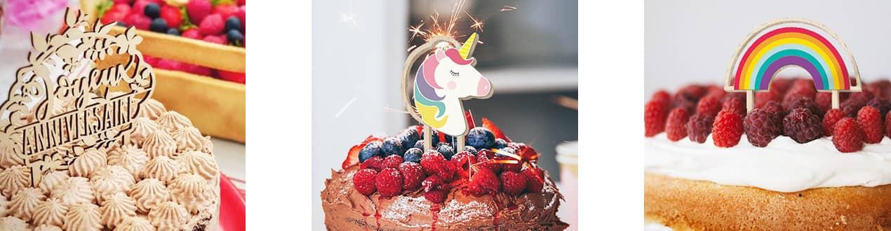 Cake Topper originaux - Décorations de gateau