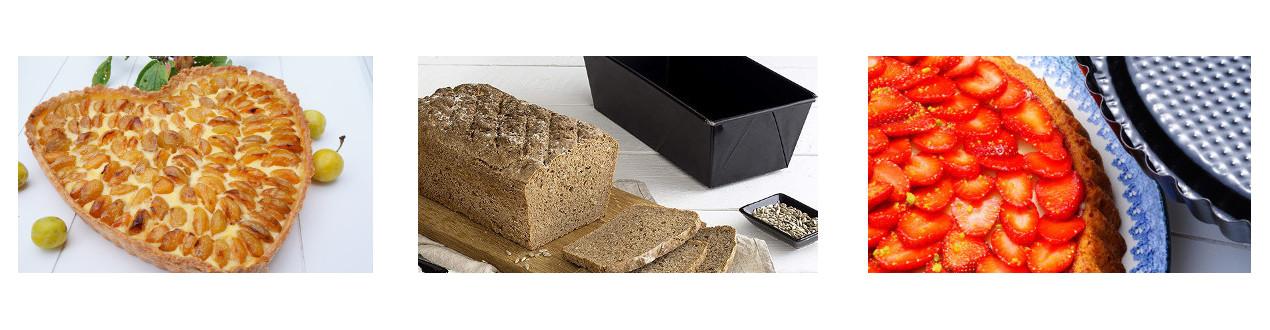 Moules et Plaques en revétement anti-adhésif pour la confection de pâtisseries